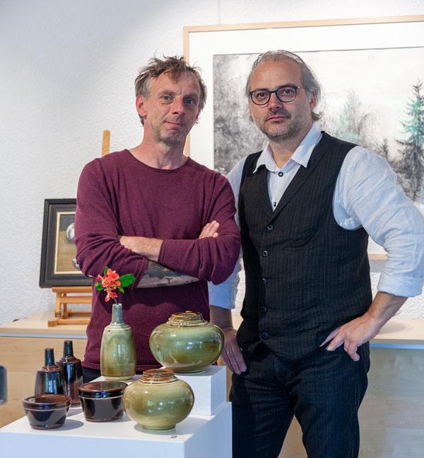 Keramik von Gunnar Jakobson in der Kunstgalerie Vanitas